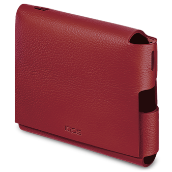IQOS 3 DUO Leather Folio in Deep Red