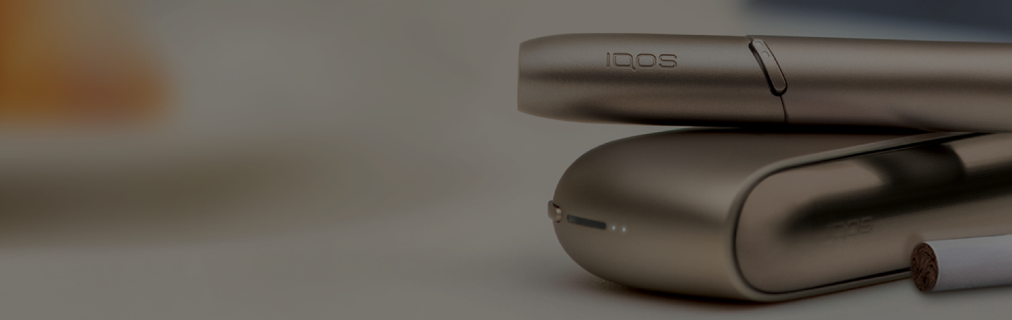 IQOS 3 Duo holder and charger in Brilliant Gold
